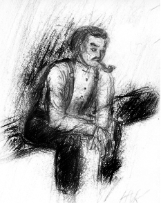 Watson on a bench by HanyouHanto