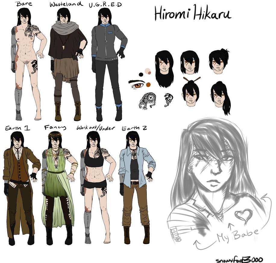 Hiromi Hikaru Reference Sheet by snowyfoot3000
