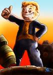 Fallout, Vault Boy Statue + SpeedPaint