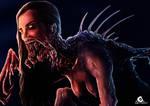 Creepy female creature + Speedpaint