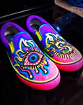 Custom Hand Painted Shoes by customchaosart