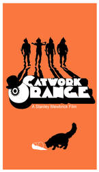 Clockwork Orange. Minimalist cat poster.
