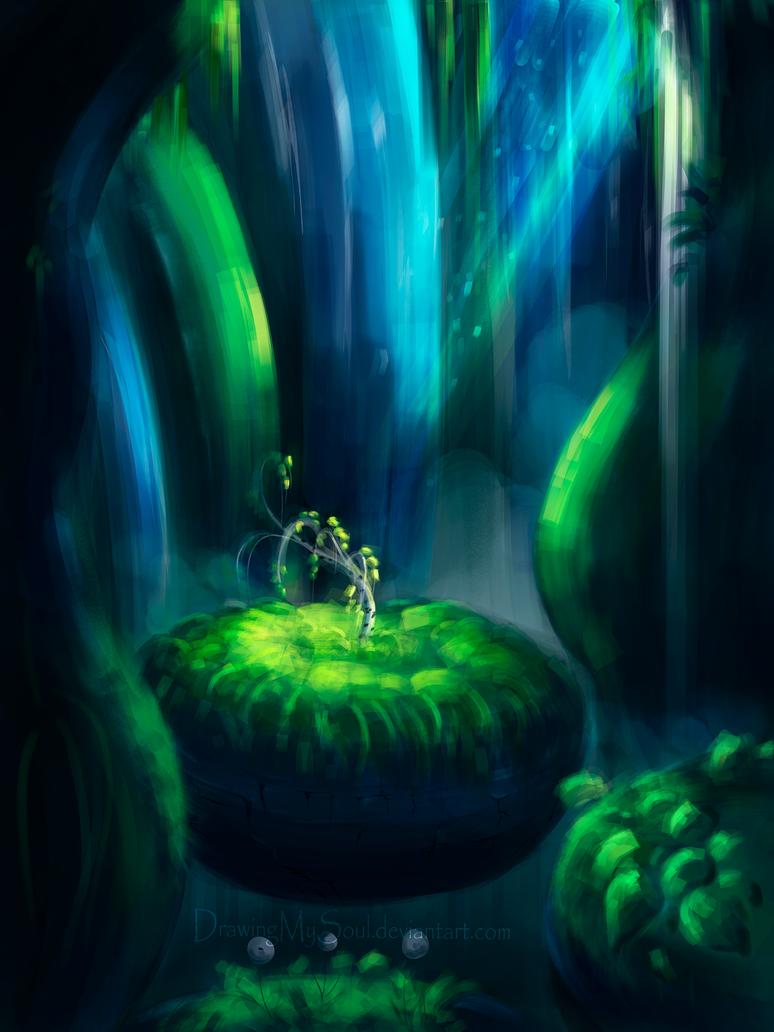 birch sapling by DrawingMySoul