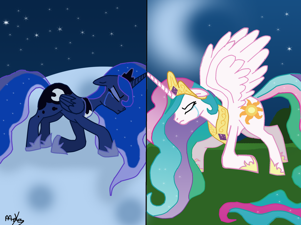 my little pony baby princess celestia and luna