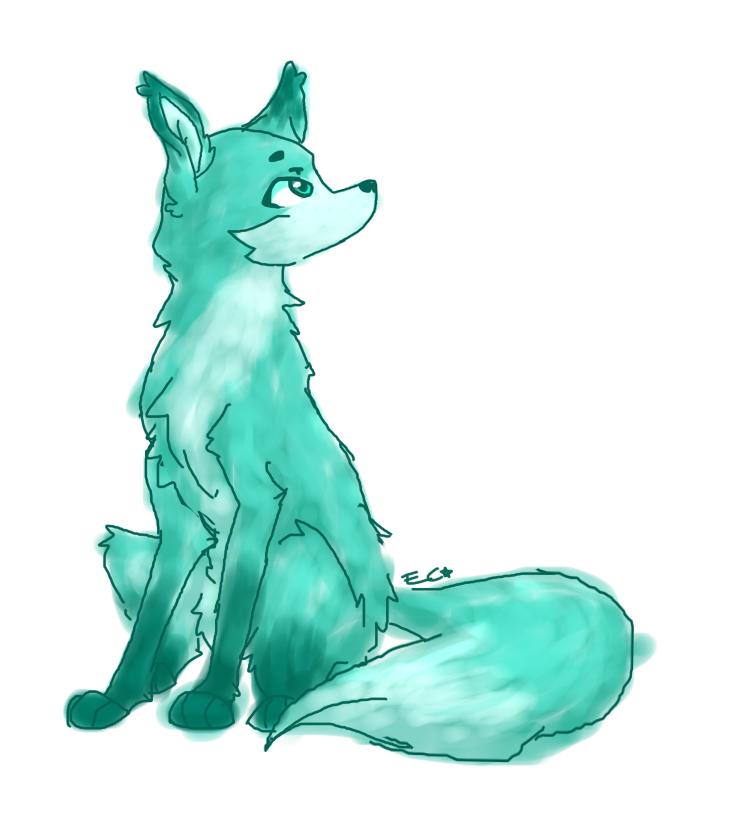 Green Fox by SpaceBananaZ