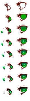 Anime Eyes Coloring Tutorial by HaloBlaBla