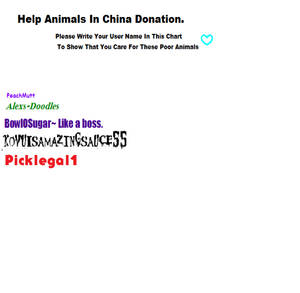 save the animals in china