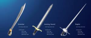 Low Poly Sword Set