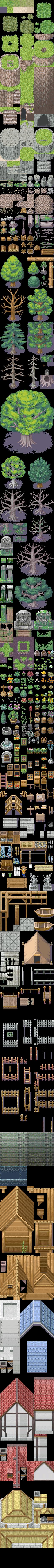 RPGM-XP Tiles - Seaside Forest