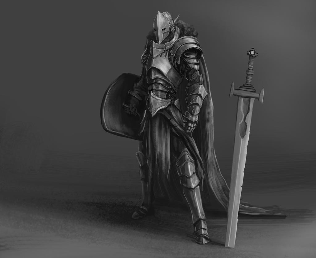 Knight Character Sketch by BABAGANOOSH99