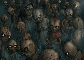 Voodoo Doll Crowd by BABAGANOOSH99