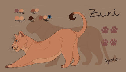 TLK!AU - Zuri Reference Sheet. by Apohe