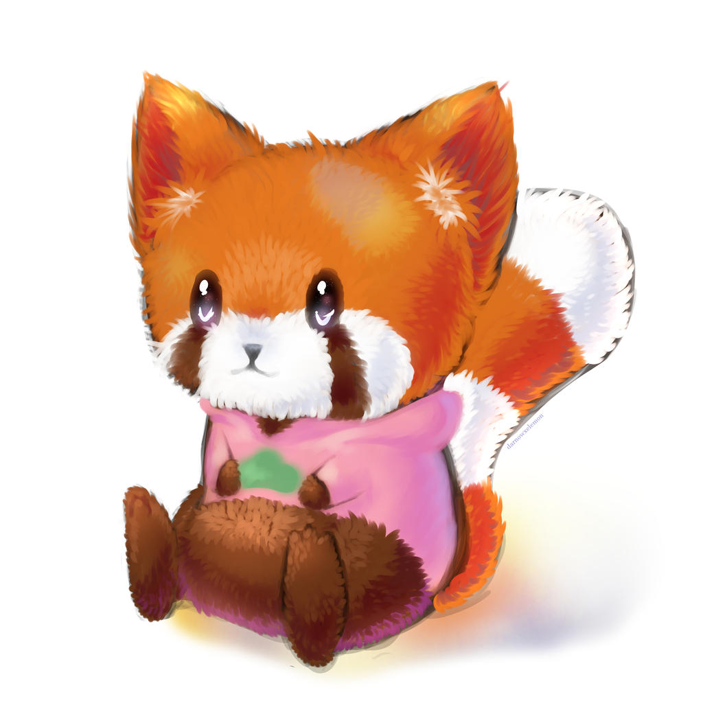 Chibi red panda - photo#16