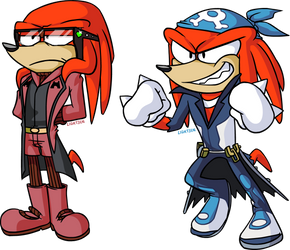 Team Magma and Team Aqua ..... and Knuckles