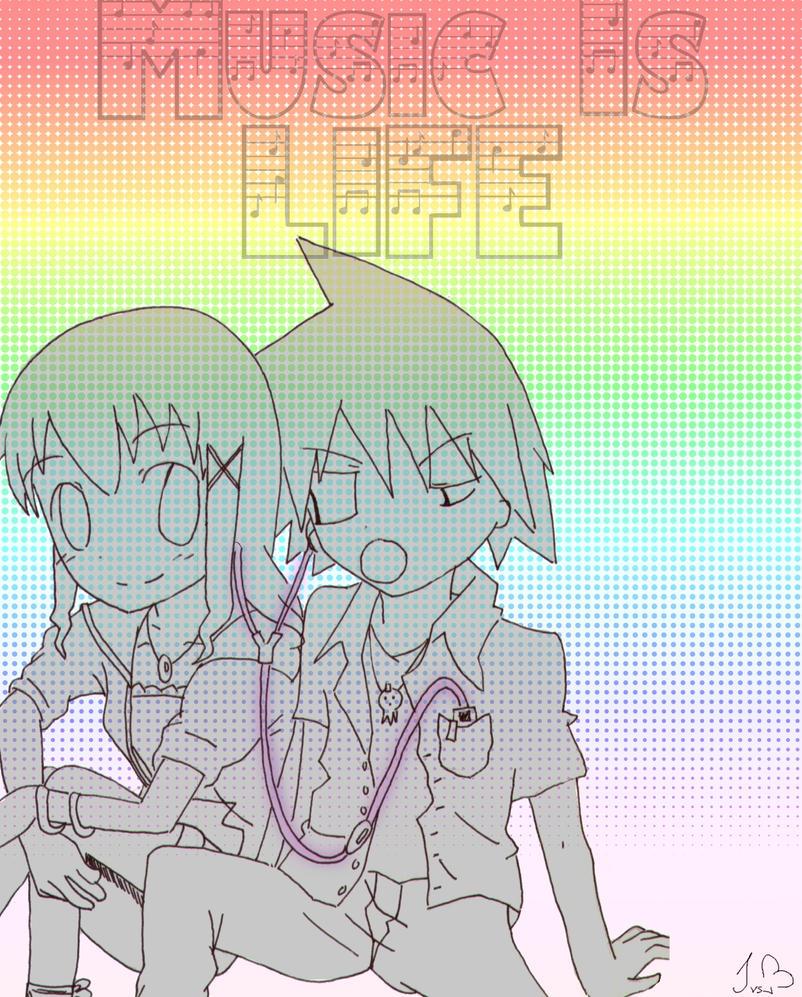 Music is Life xD Soul and maka by Anime-sama