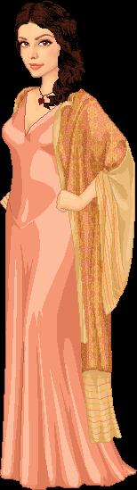 Inara's Peach Gown by moara