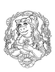 Miss Piggy Portrait