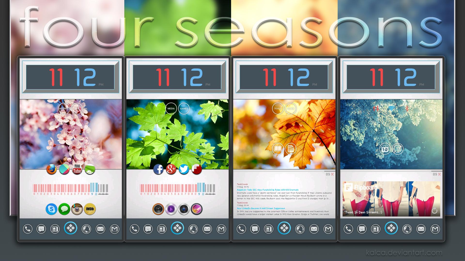 Four Seasons Android Theme By Kalca On Deviantart