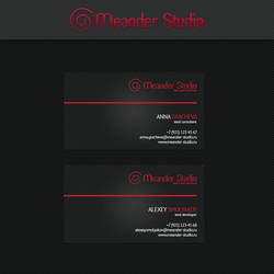 Business card - Meander Studio by AlexeySmolyakov