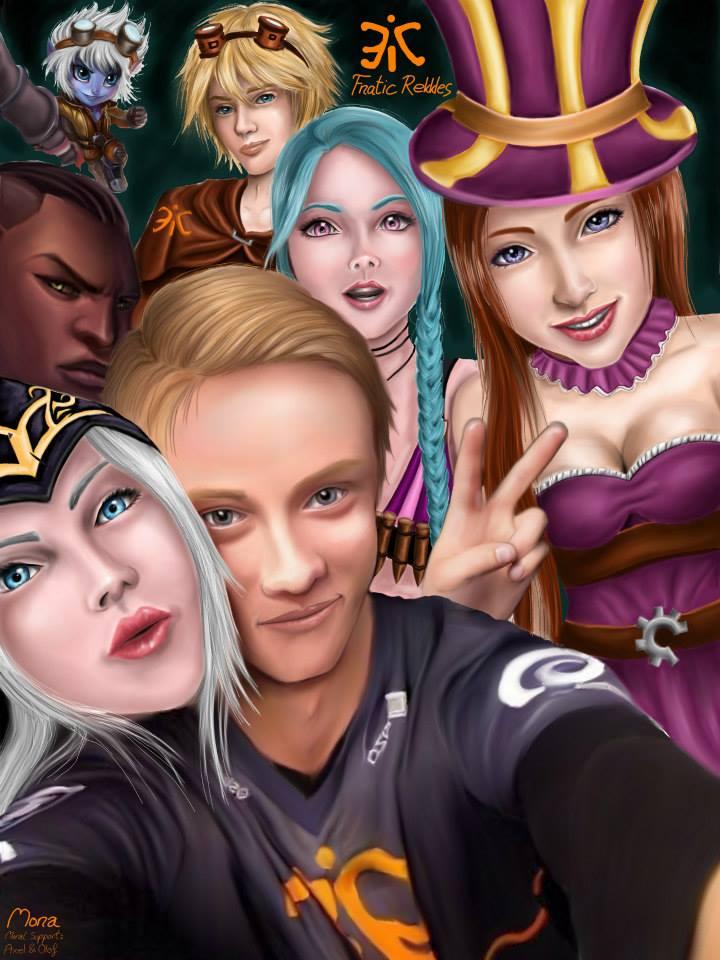But first let me take a selfie - Rekkles Fanart by xEzrealx