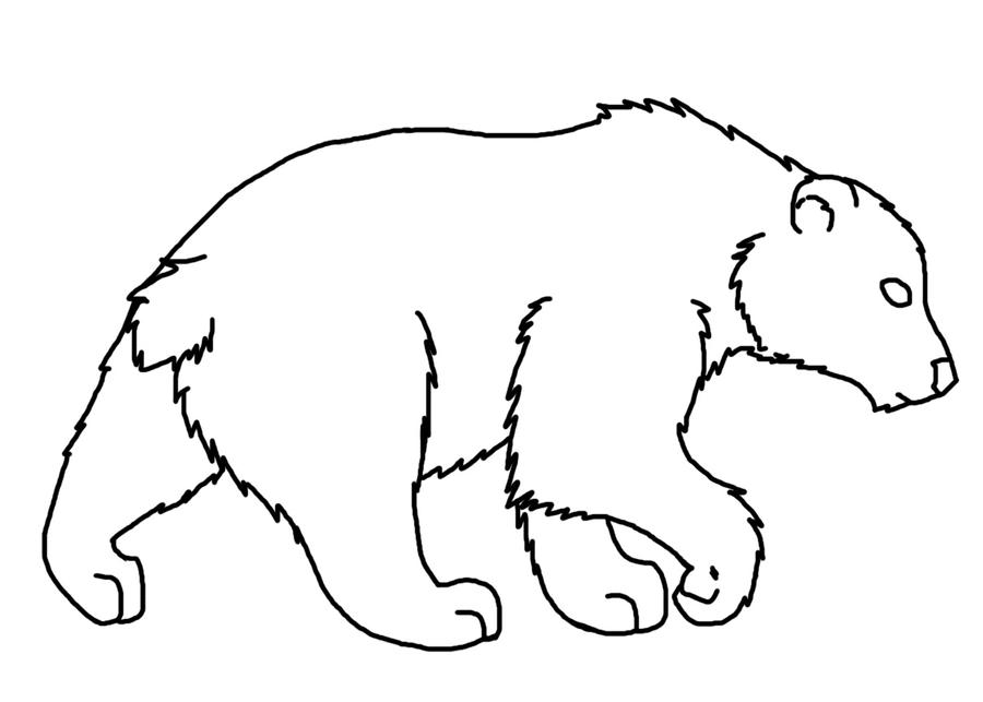 Line Art Bear : Grrrr free bear lineart by eaglefeather on deviantart