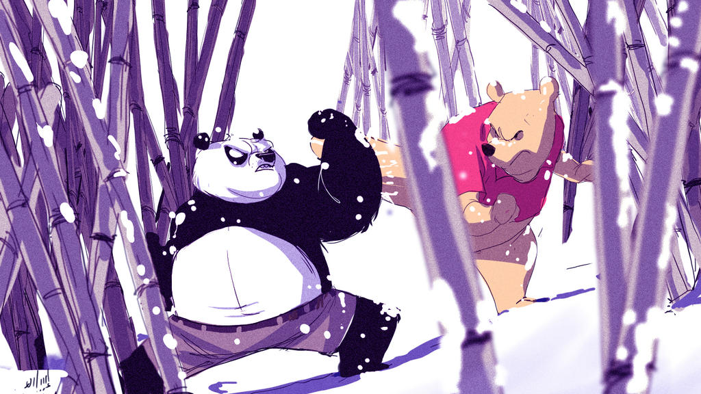 Po vs pooh by holako