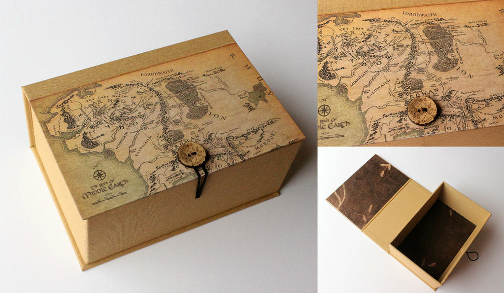 Handmade Box - Middle Earth by GatzBcn
