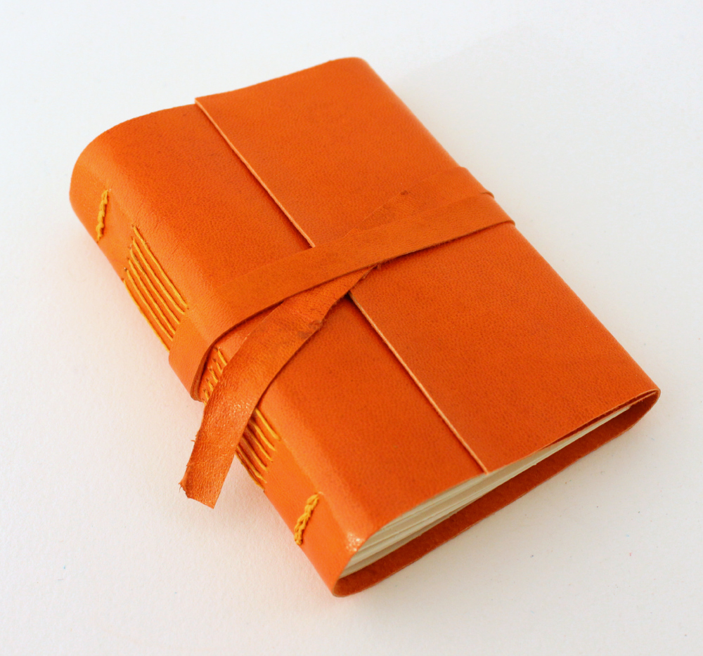 Orange Leather Journal by GatzBcn