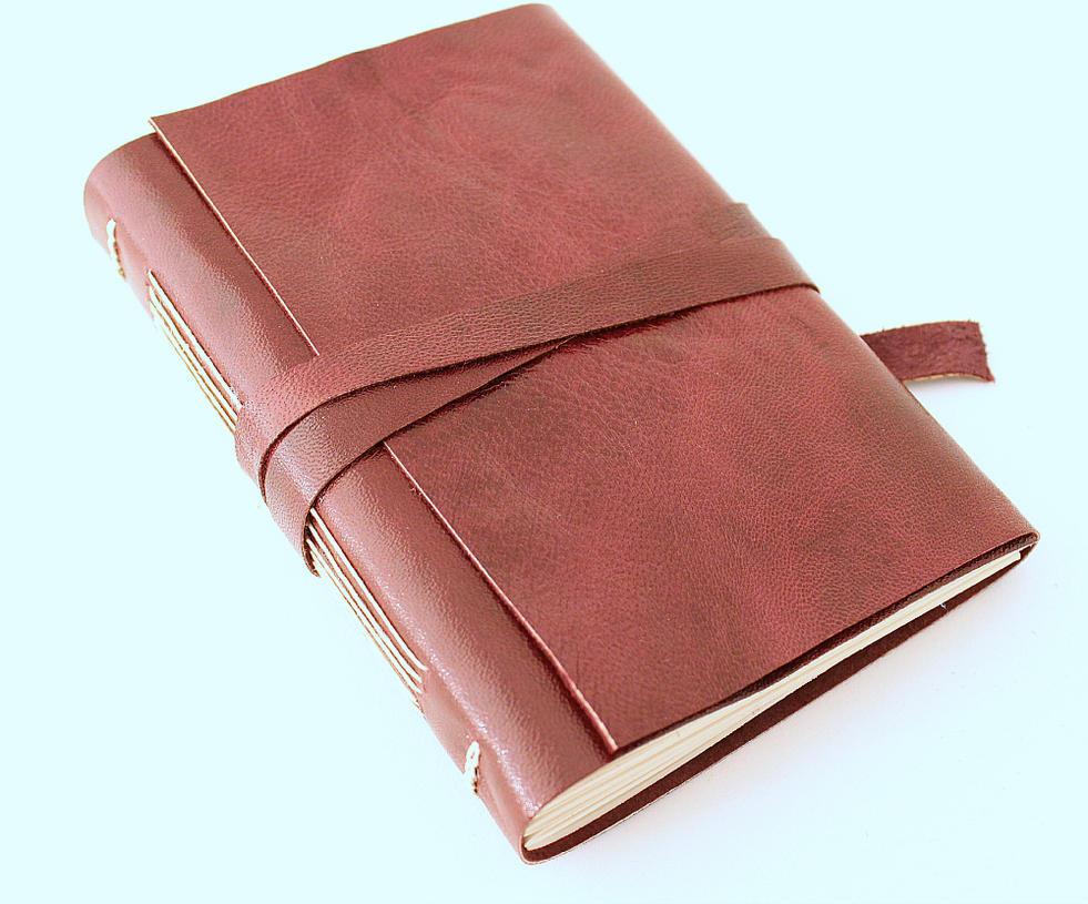 Burgundy Leather Journal by GatzBcn