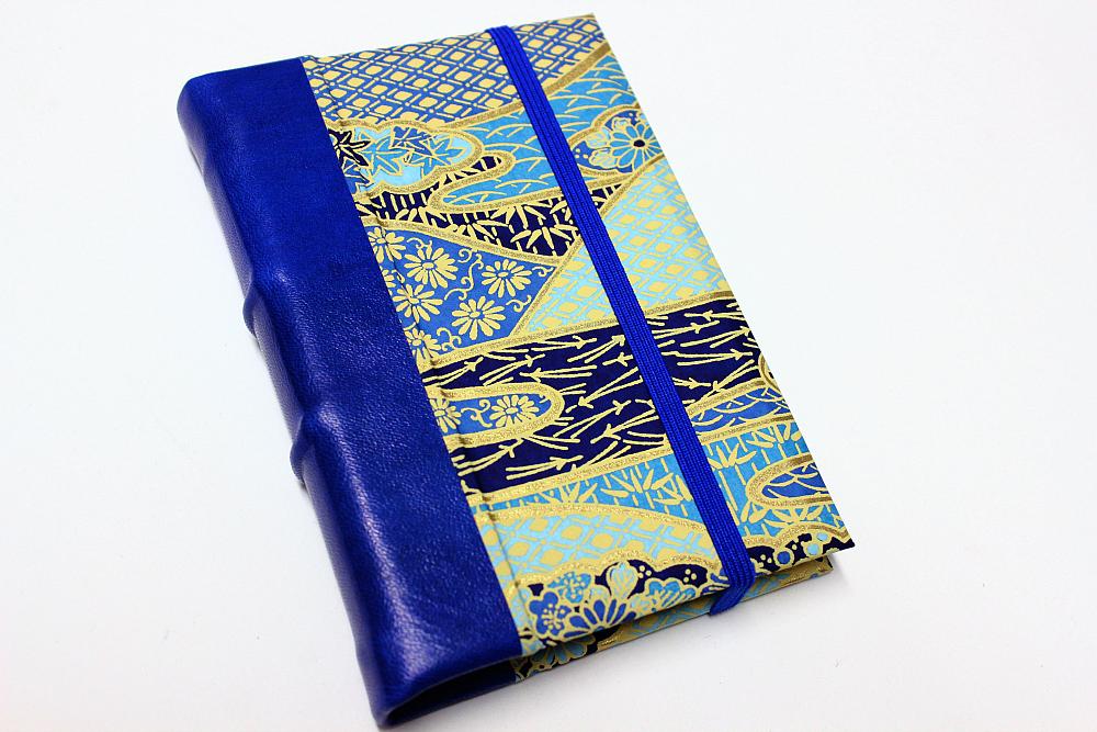Leather Journal - Blue Garden by GatzBcn