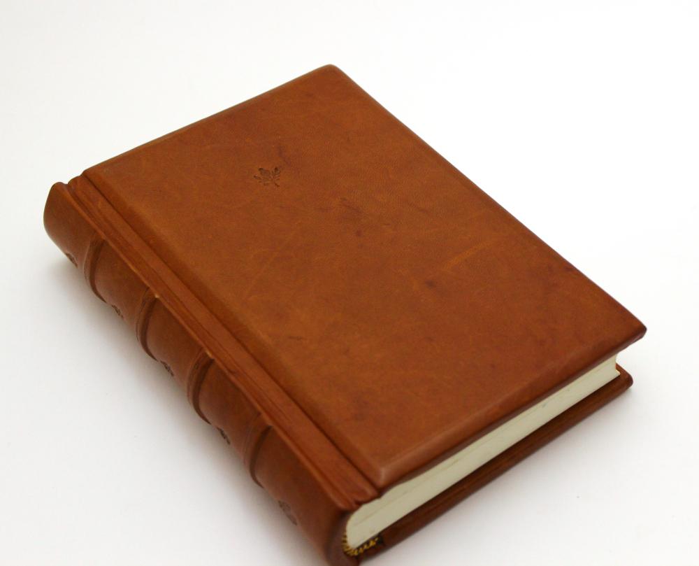 Leather Journal - Flying Cranes by GatzBcn