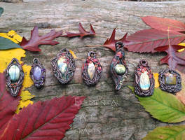 I am an ARTISAN!!! Autumn Handmade Pendants by Anaid89
