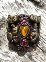 Guardians - Cat Pendant by Anaid89
