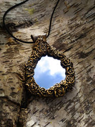 Witch Mirror Pendant by Anaid89