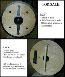 Wooden Shield type 1 by Gwendolinh