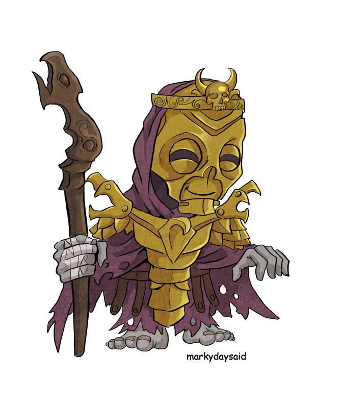 Dragon Priest Small Guy by markydaysaid