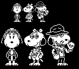 Undertale TN au: The Beagle Triplets Sprites by Kenny1941