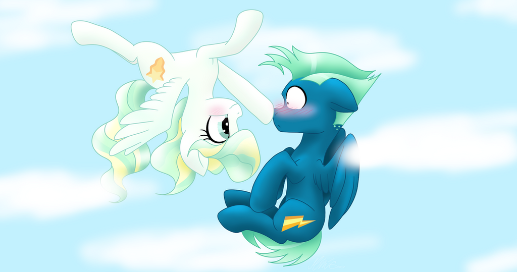 My little pony - Vapor Trail and Sky Stinger by MimicProductions