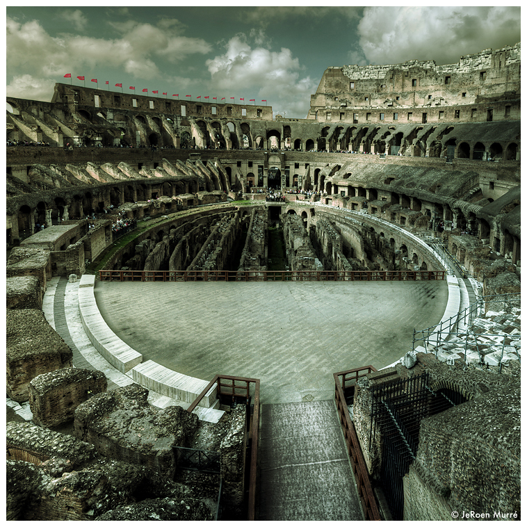 Colosseum Rome, Arena by JeRoenMurre