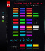 Gradients for Photoshop Neon light