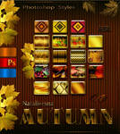Autumn styles for Photoshop