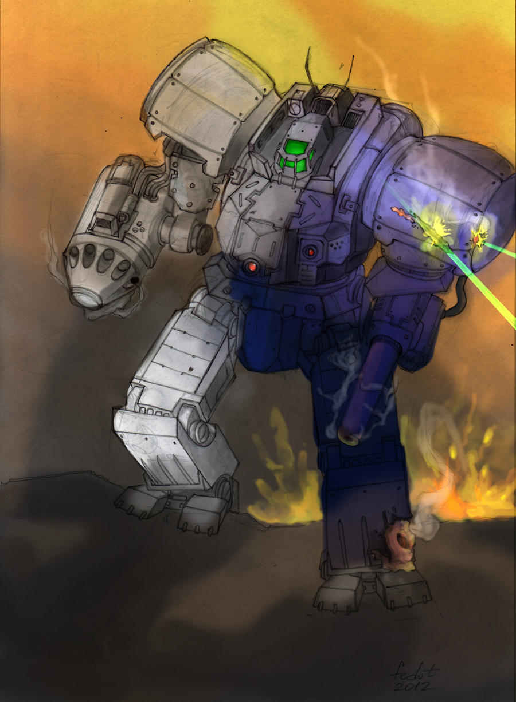 Battletech Zeus under fire by fed0t