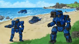 Coastline patrol Battletech commission.