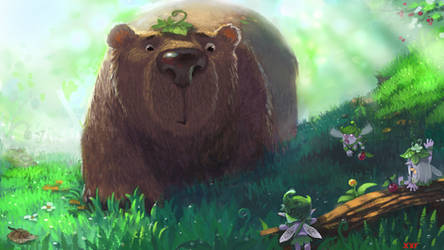 Morning Bear by xiongrong