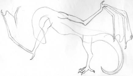 dragon doodle by blackrrose2