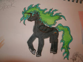 nightmare spook my oc for my little pony fim by blackrrose2