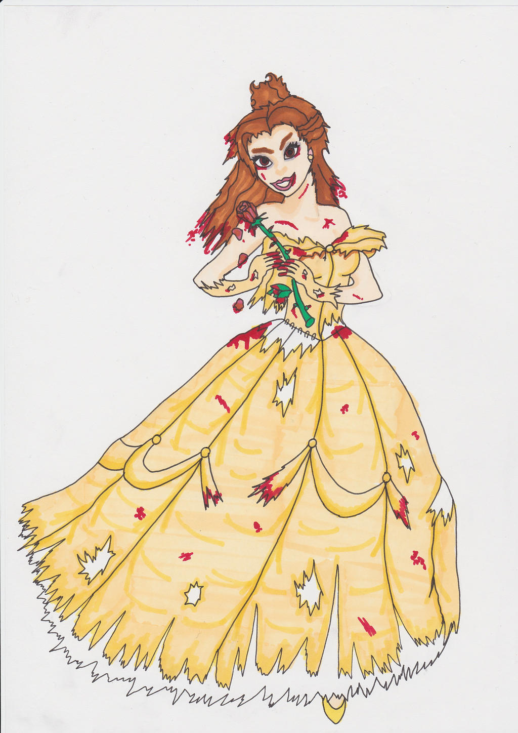 Disney Horror Mashup Belle Beauty And The Beast By CrazyAmyM