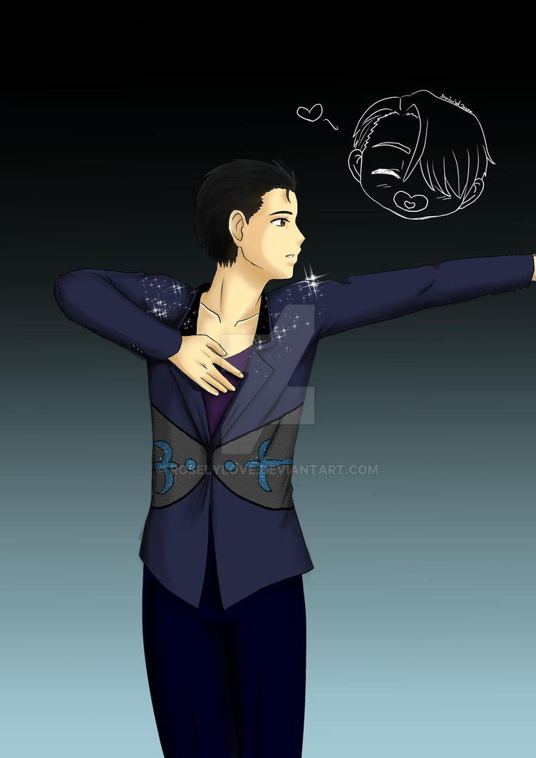 Yuuri on Ice by RoselyLove