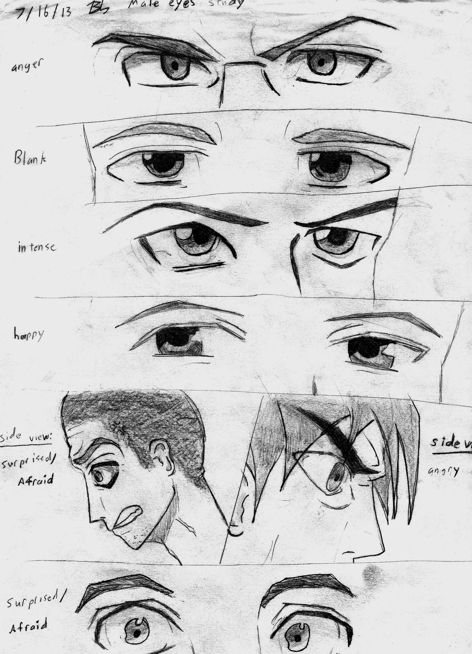 It is a picture of Current Men Eyes Drawing