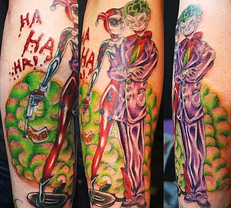 Matching Joker And Harley Tattoo: Joker And Harley Quinn Tattoo By AirEelle On DeviantArt